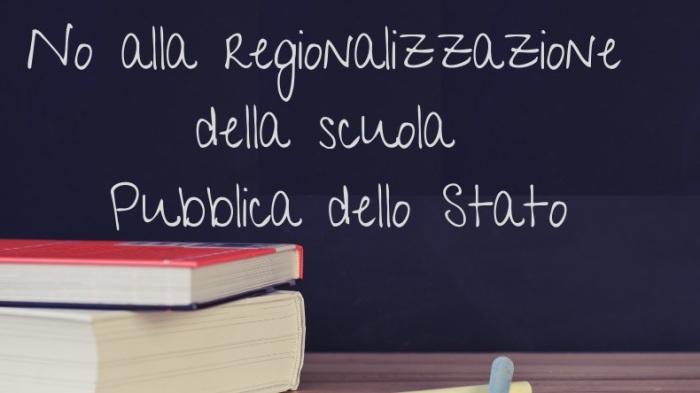 comunicato appello no alla regionalizzazione nel nuovo governo